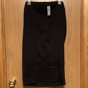 Torrid Black Laser Cut pencil skirt NWT 2